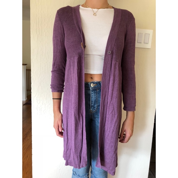 Boden Sweaters Cardigan With Shell Snap Purple Size 12 Poshmark